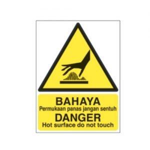 Danger Hot surface Do Not Touch